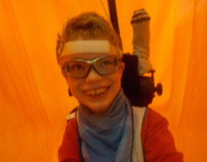 Jack using Head Active in the colour tent